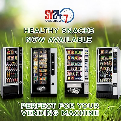 Healthy Vending Options Available with SV24-7Vending